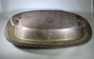 Vintage Silver Plated Serving Dish & Cover