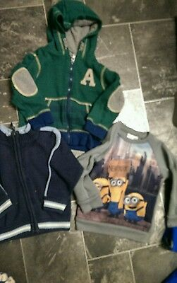boys bundle of jackets jumpers age 2-3 years minion