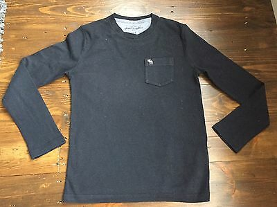 Gorgeous Boys Abercrombie & Fitch Black Long Sleeve Top Age 7-8