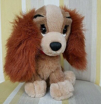 """Lady from Lady and the Tramp 8"""" plush soft toy by Disney"""