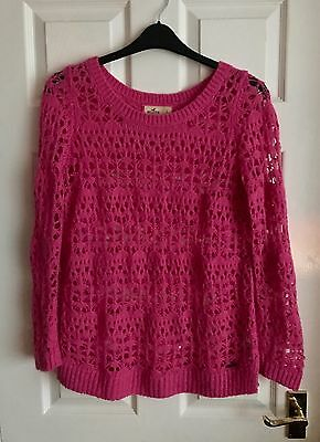Holister Holy Jumper Pink Size L Winter Chic