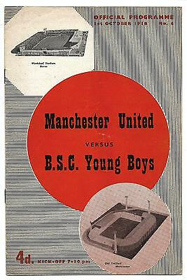 1958 MANCHESTER UNITED v B.S.C. YOUNG BOYS FRIENDLY