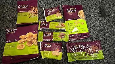 DIET CHEF replacement meals @ snack bundle   x 8  look