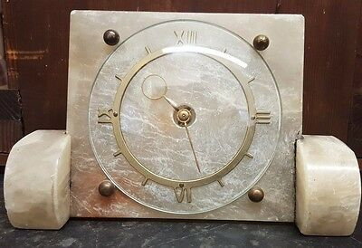 Vintage Art Deco Marble Mantle Clock