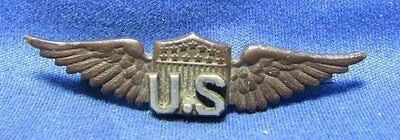 WWI Army Air Service Pilot Wings Home Front Sweetheart Pin VERY HIGH QUALITY