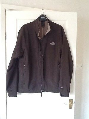 Men's Dark Brown Jacket-The North Face Soft Shell-size XL