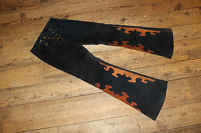"Authentic Vintage Custom Leather Hippie Pants /  "" NORTH BEACH LEATHER "" Style"