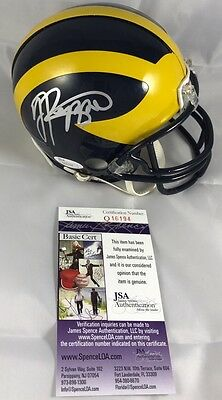 JABRILL PEPPERS signed Mini Helmet MICHIGAN WOLVERINES JSA Authenticated