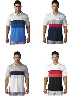 Adidas Climacool Engineered Stripe Polo Mens Golf Shirt -New- Pick Size & Color