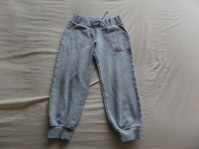 M&S Girls Grey Tracksuit Pants Trousers Jogging Bottoms Size 4-5 Years