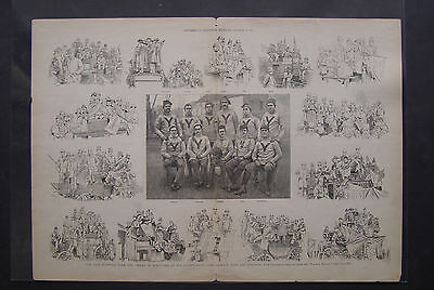 1887 NATIONAL CHAMPION YALE FOOTBALL TEAM PHOTO SUPPLEMENT from Harper's Weekly