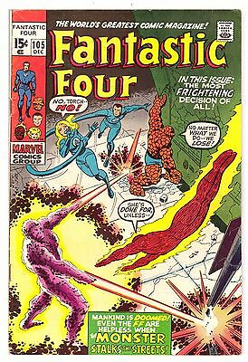 Fantastic Four #105 VG (4.0) Marvel Comic 1970 (2)