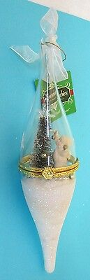 Dept. 56 Snowbabies  Bell Jar Christmas Ornament Mint with Tag and Ribbon
