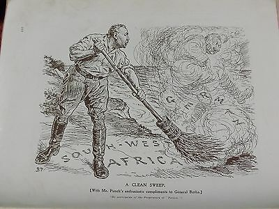 Ww1 War Record Illustration 1914-1918 A Clean Sweep Punch Illustration