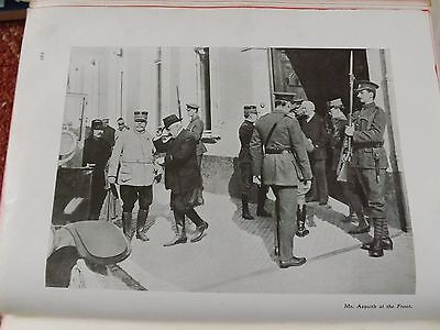 Ww1 War Record Illustration 1914-1918 Mr Asquith At The Front