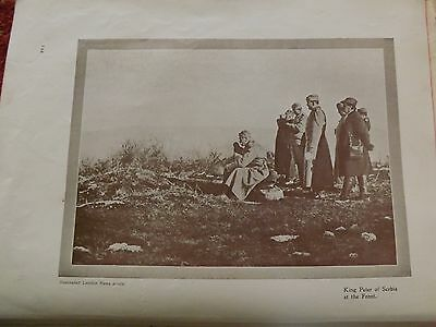 Ww1 War Record Illustration 1914-1918 King Peter Of Serbia At The Front