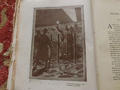Ww1 War Record Illustration 1914-1918 A Christmas Incident In The Trenches
