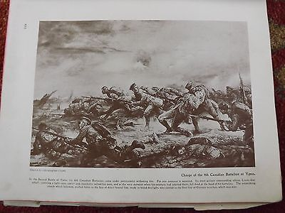 Ww1 War Record Illustration 1914 Charge Of The 4Th Canadian Battalion Ypres