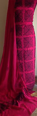 Multani Hand Arr Embroided Shalwar /scarf Kameez Anarkali Pakistani / Bollywood