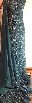 Hand embroidery Sitra Pakistani Bollywood Suits Shalwar /scarf Kameez Anarkali