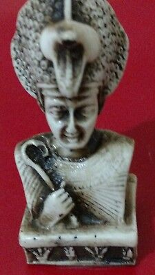 Egyptian Antique King Tutankhamun Carved Stone 43 g, 70 mm
