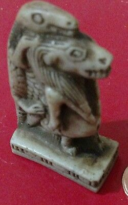 Egyptian Antique, Sobek God of Military & Fertility, Curved Stone, 40 g 68 mm