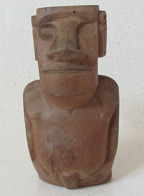 CarvedcTimber Easter Island Moai Figure