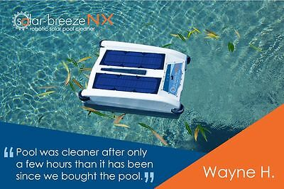 Solar-Breeze NX : Robotic Solar Pool Cleaner. Pool Leaf Skimmer. Chlorinator.