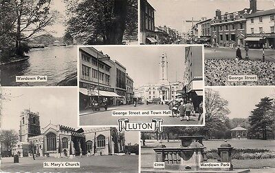 Very Nice Rare Old 5 Different View Postcard - Luton - Bedfordshire 1962