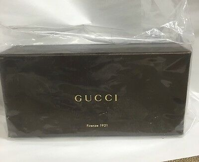 Gucci Leather Medium Brown Sunglass Case With Gucci Box & Cleaning Cloth