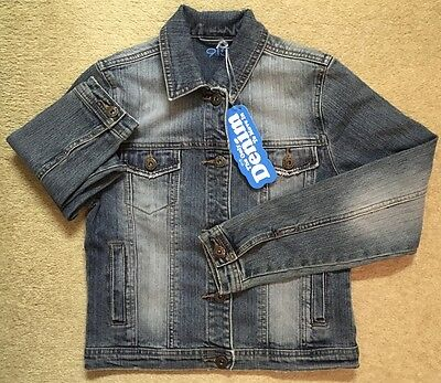 GIRLS 915 NEW LOOK DENIM JACKET - BRAND NEW WITH TAG - HEIGHT 152cms