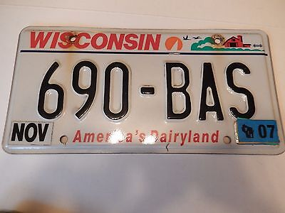 Old Wisconsin License Plate *