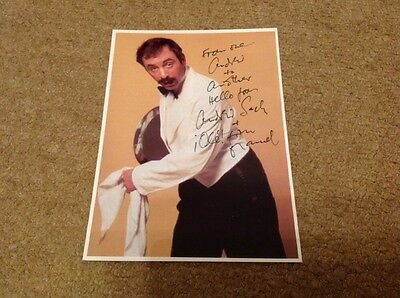 ANDREW SACHS -  FAWLTY TOWERS   - SIGNED 6x8 PHOTO  -   AUTHENTIC UACC