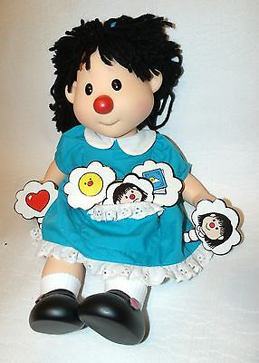 """1996 Big Comfy Couch Molly Doll 14"""" Vinyl Head Arms Legs In Its Original Dress"""