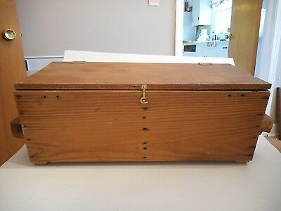 Large Wooden Pine Chest Box Handmade with Handles