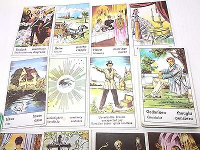 Vintage tarot playing card deck telling fortune Hungary 1980's