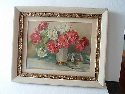 wood Victorian picture frame, gesso floral decorations, 11 by 14 inches, # 590