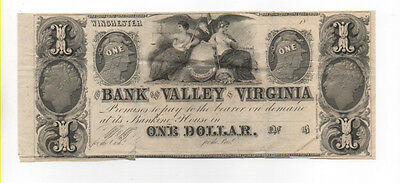 Civil War Confederate CSA 1$ Winchester Virginia Bank Note Obsolete Currency