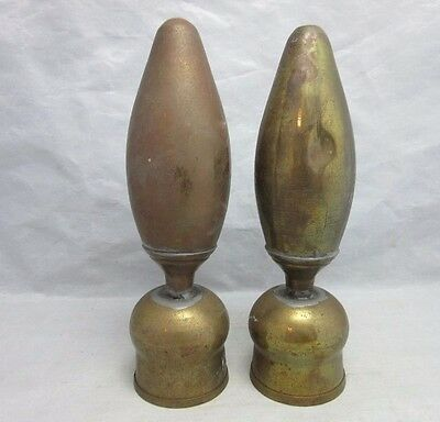 Pair of vtg brass post finials. Bed? Fence? Gate?
