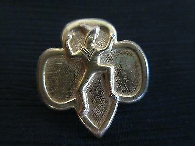 1940s RARE WWII SOLID Brownie Girl Scout Membership Pin