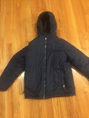 Boys Lands End Winter Hooded Winter Coat Size M