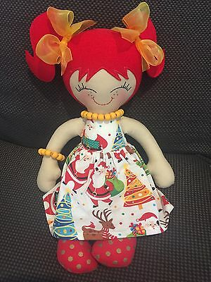 Gorgeous Handmade Doll With Removable Skirt *Christmas*