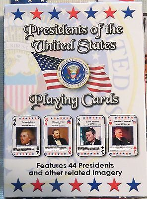 Presidents of The United States Playing Cards Featuring 44 Presidents No Tax
