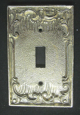 Vintage Ornate Solid Heavy Brass Light Switch Cover Dilly USA Hollywood Regency