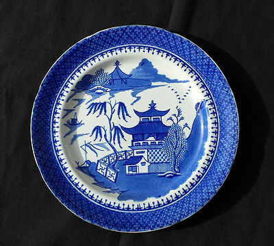 """J&W Ridgway Early 1800's """"Blue Willow"""" 9 3/4 in. plate"""