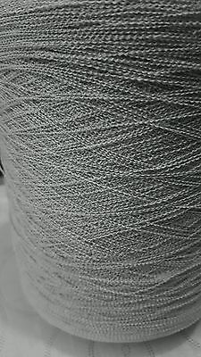 507g 89%/11% ACR/POLYAMIDE. FINE 1PLY GIMP CREPE IN (PIGEON) MACHINE KNITS.