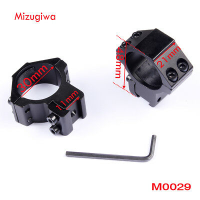 2PCS Tactical Low Profile 30mm Ring 11mm Rail Scope Mount For Riflescope Laser