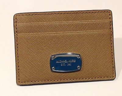 Michael Kors Jet Set Travel Saffiano Leather Credit Card Holder Wallet DR Khaki