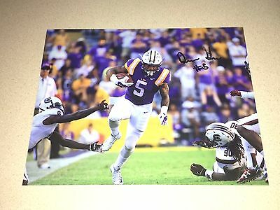 Derrius Guice #5 Lsu Tigers Autographed 8X10 Photo Sec Champs Louisiana State