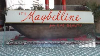 vintage 50s 60s maybelline reverse on glass advertising display counter sign